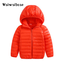 цены Winter New Children Jackets Cotton Snowsuit Coats Baby Boys Girls Thicken Warm Clothes Kids Hooded Jackets Outerwear Clothes