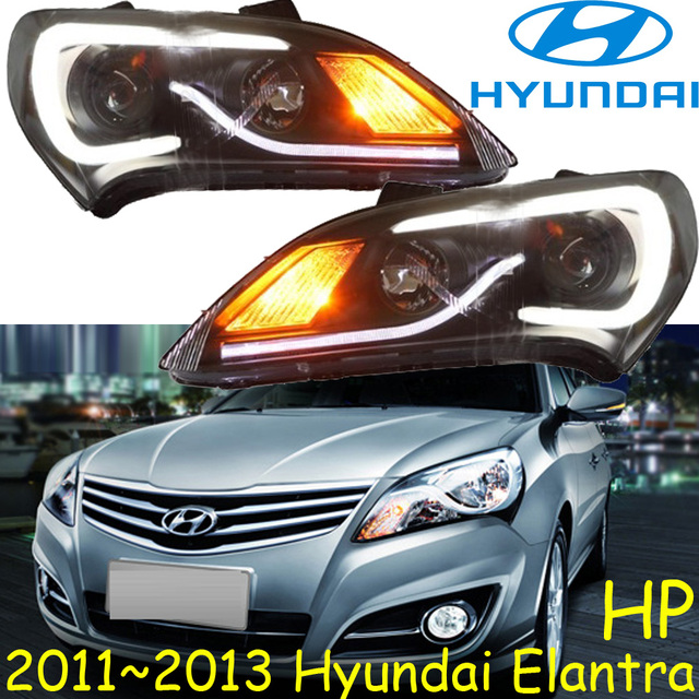 car-styling,Elantra headlight,2011~2013,Free ship!Elantra fog,LED,Elantra head light,Veracrus,accent,Elantra,Genesis,i10,i20