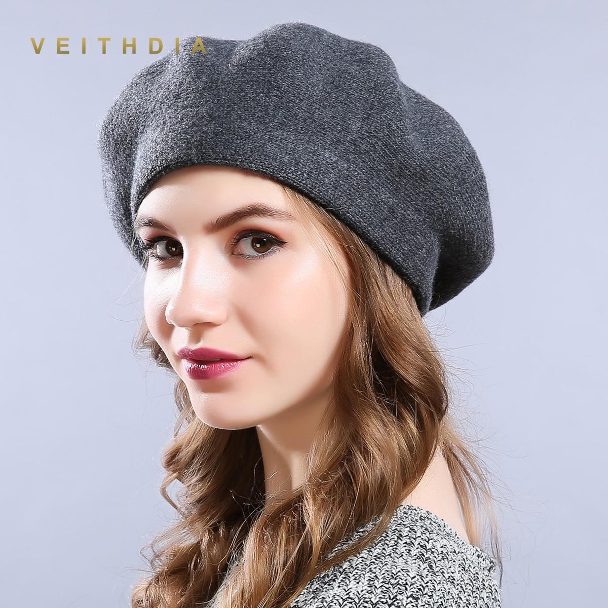 Detalle Comentarios Preguntas sobre Lentes polarizados nuevo invierno  sombrero boinas de lana Cachemira mujer caliente casuales de la marca de  alta calidad ... 579ce931945