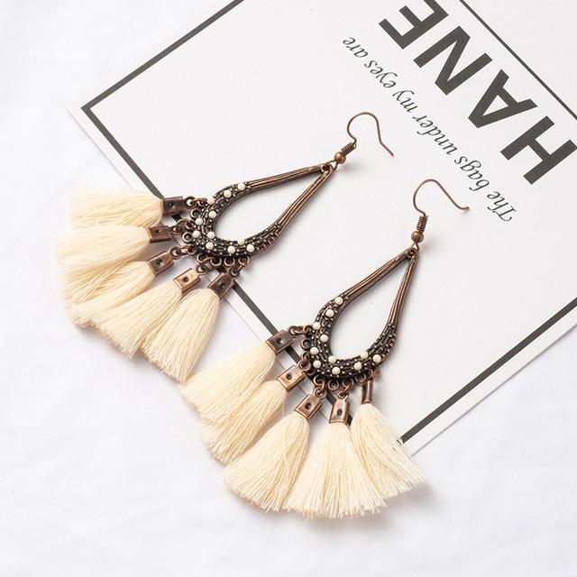 ffc81ece3 Variety of Bohemian Boho Ethnic Vintage Tassel Drop Dangle Earrings for Women  2019 New Charm Wedding