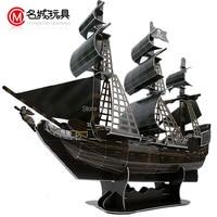 Jack Sparrow Captain 3D puzzle paper ship model Pirates of the Caribbean Black Pearl Model ancient Sailing sailboat warships