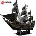 Jack Sparrow capitán 3D nave de papel del rompecabezas modelo piratas of the caribe perla negro modelo antiguo vela velero buques de guerra