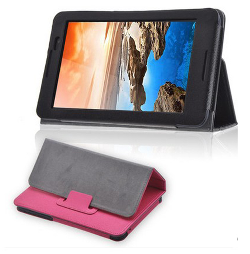 New Luxury Folio Stand Magnetic PU Leather Skin Protective Case Cover For Lenovo Idea Tab A3500 A7-50 A3500-HV 7 Tablet ultra slim custer fold folio stand pu leather magnetic cover protective skin case for lenovo tab3 7 tb3 730m tb3 730f 7 tablet