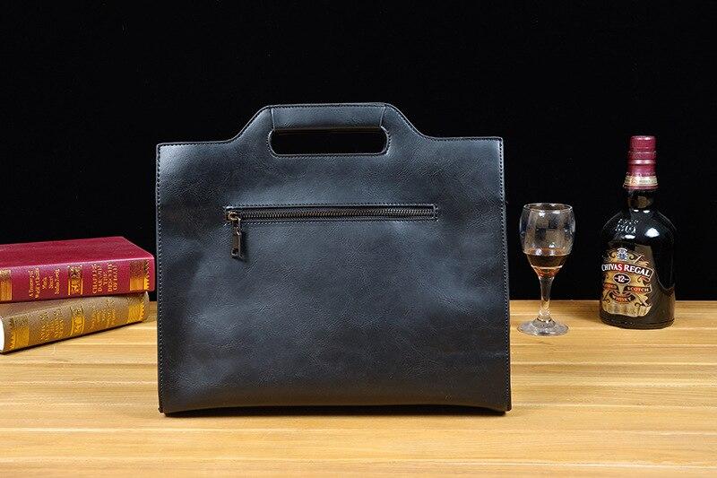 2019 Vintage Men's Briefcase Business Office Bags Crazy horse Leather Handbag NEW computer laptop Bag Casual Crossbody bags