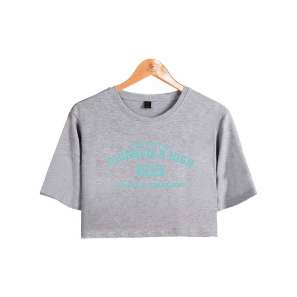 Waidx Southside Riverdale Serpents Short Crop Top Women's T-shirt New Female Sexy Cotton Pullover Shirts Clothes Drop Shipping