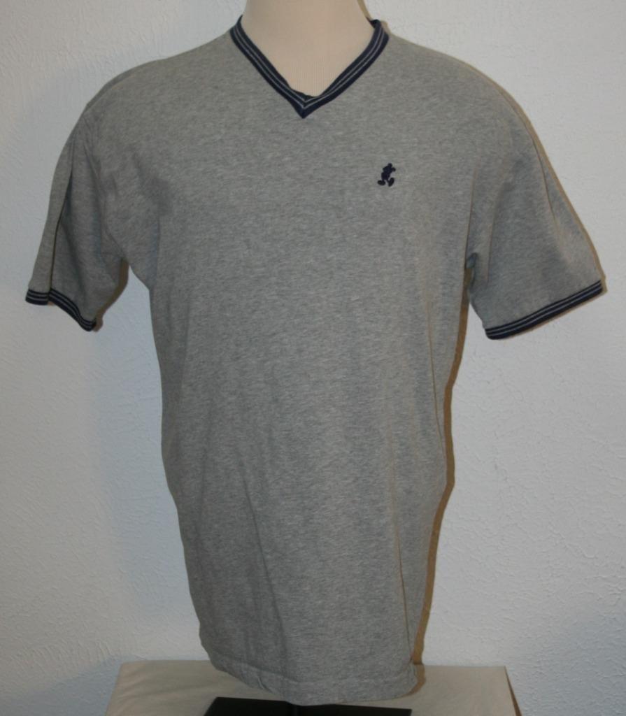 "HTB1B8OEmVooBKNjSZPhxh72CXXaF - DISNEY Mickey Mouse T-Shirt XL Gray V-Neck Chest 48"" S/S Shirt Mens"