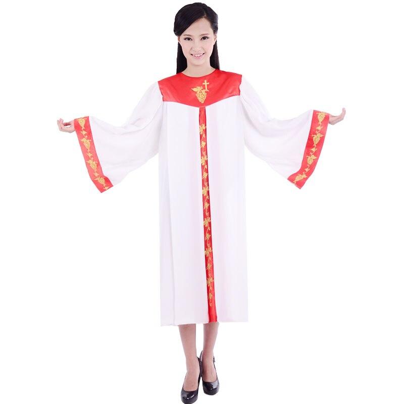 Haute qualité église chœur hymne robe poème vêtements unisexe robe Vatican église directeur chanteur