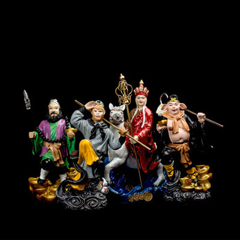 Creative character resin journey to west decoration tang monk sun wukong pig eight quit sand monk home Arts and crafts ornaments