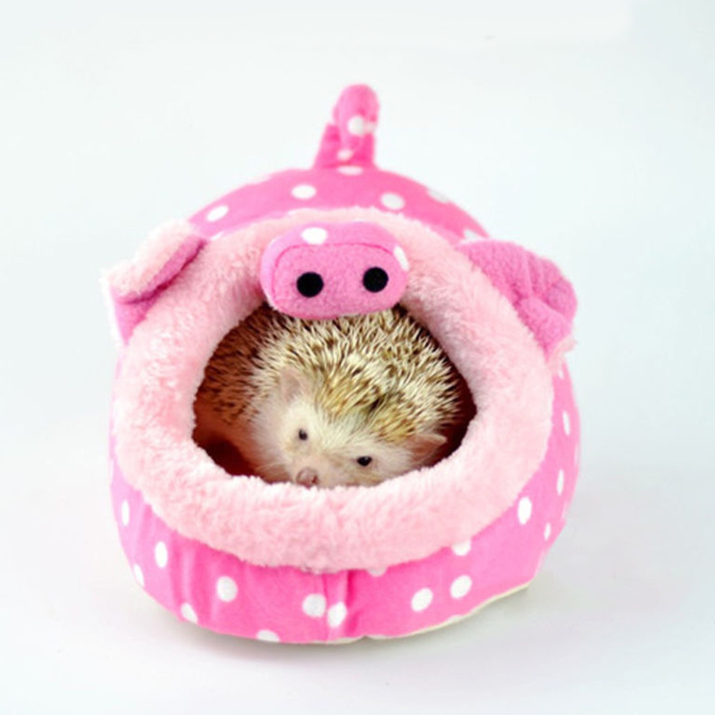 Lovely Cartoon Animal Pet Nest Bed Squirrel Puppy Hamster House Sleeping Cage