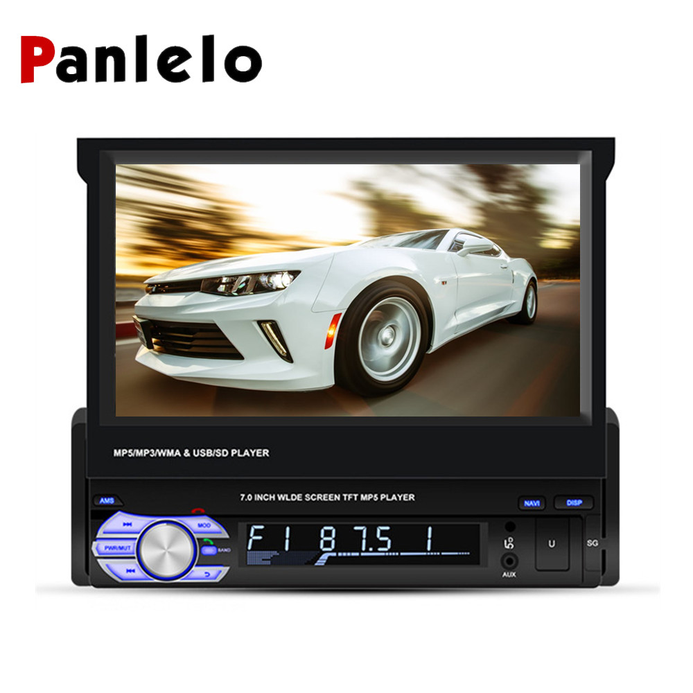 Panlelo T2 1 Din Android Car Stereo 7 inch 1GB 16GB Quad Core 1080HD Audio Player