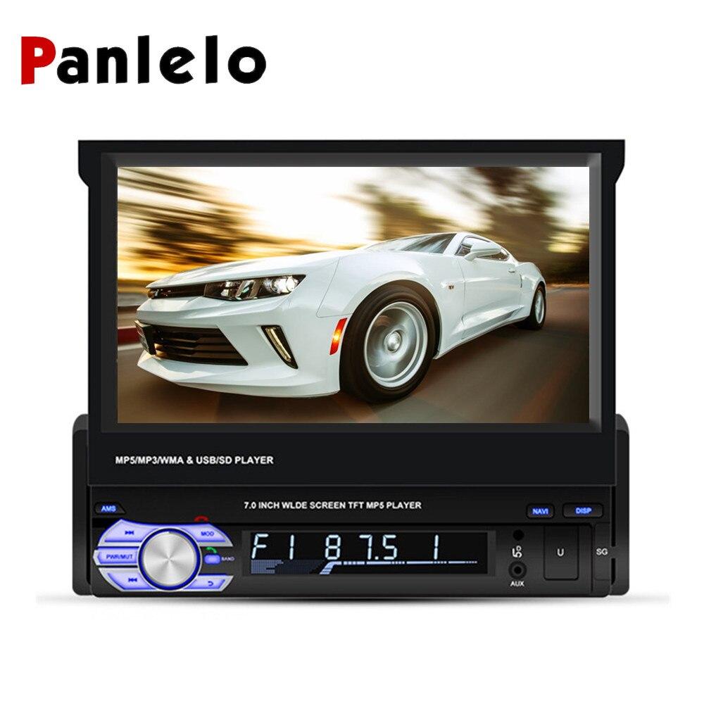Autoradio Android Panlelo T2 1 Din 7 pouces 1 go + 16 go lecteur Audio Quad Core 1080HD écran tactile GPS Navigation Audio Radio 1 din
