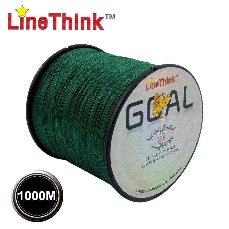1000 M objectif LineThink marque meilleure qualité Multifilament 100% PE tressé ligne de pêche tresse de pêche livraison gratuite