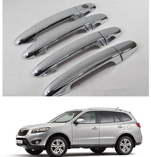For Hyundai Santa Fe 2007 2008 2009 2010 2011 2012 New Abs Chrome Door Handle Cover Trim Free