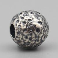 Vintage Beads Jewelry Making 925 Sterling Silver Moon Silver Beads Charms Fit European Troll Bracelet DIY Jewelry Charm Bracelet