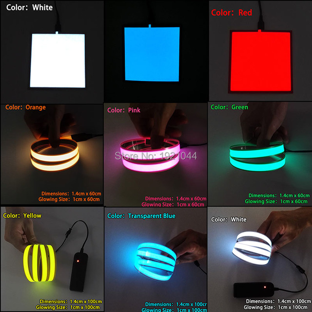 New 10X10CM White el sheet 6 Color choice el panel el backlight for car,carnival,house,dispaly,holiday,festival party decoration