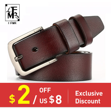 [LFMB]leather belt men male genuine leather strap pin buckle fancy vintage jeans ceinture homme belts cummerbunds