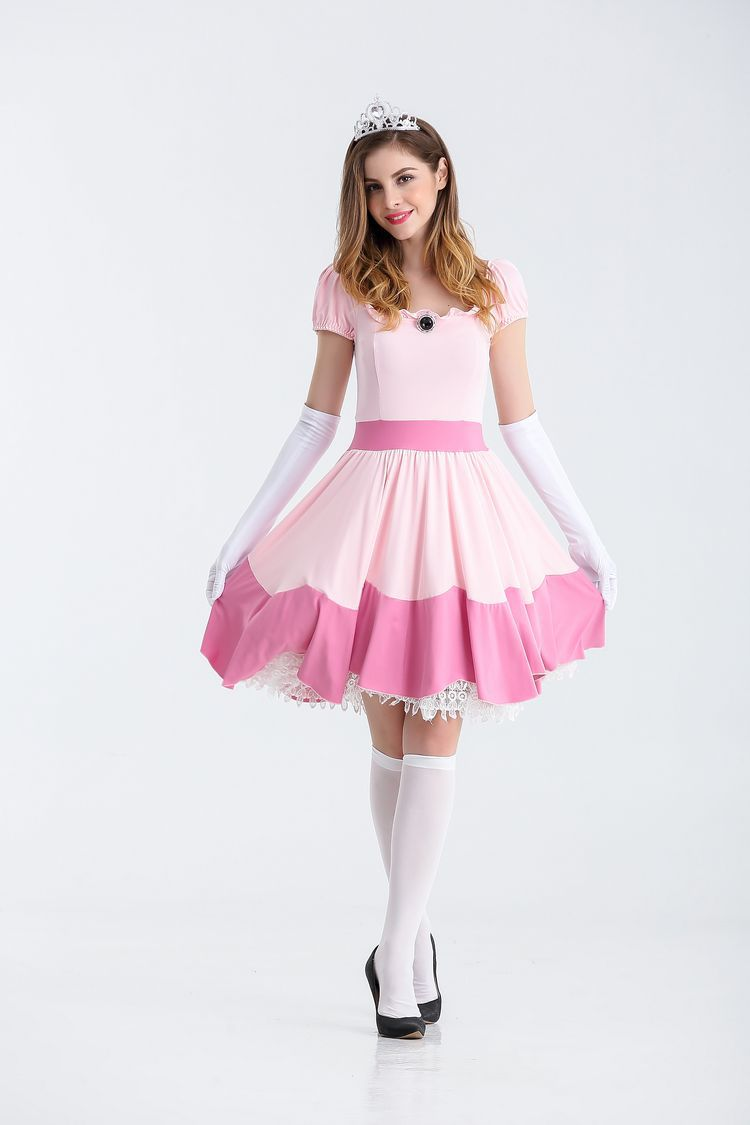 Princesse Peach Costume adulte robe fantaisie dulexe Halloween costumes pour Femme