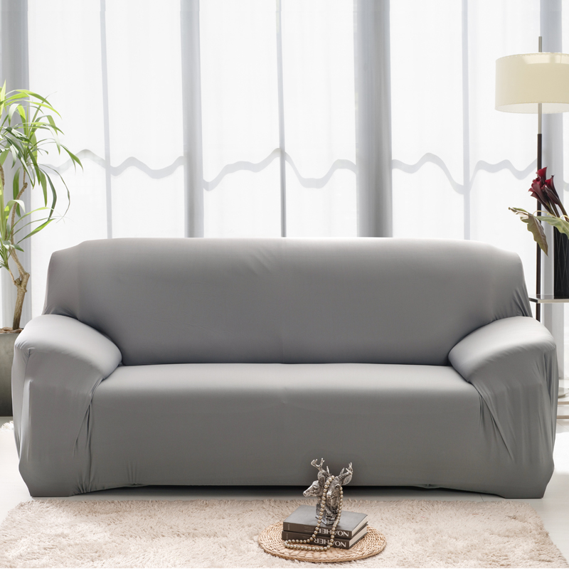 20 Solid Color 1/2/3/4 Seat/Armchair/Sectional/Corner Sofa Cover Cloth  Turnkey Antiskid Spandex Stretch Universal Sofa Slipcover