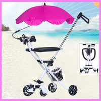 Ultra Lightweight Portable Baby Stroller Car Travel Trike Carbon Steel Tricycle Stroller Hand Pushchair Child Walker