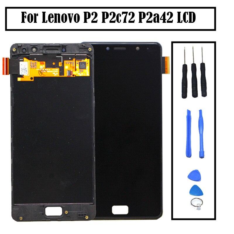 Lenovo Vibe P2 LCD Affichage à L'écran Tactile digitizer Assemblée Avec Cadre 5.5 Pour Lenovo P2 P2c72 P2a42 LCD