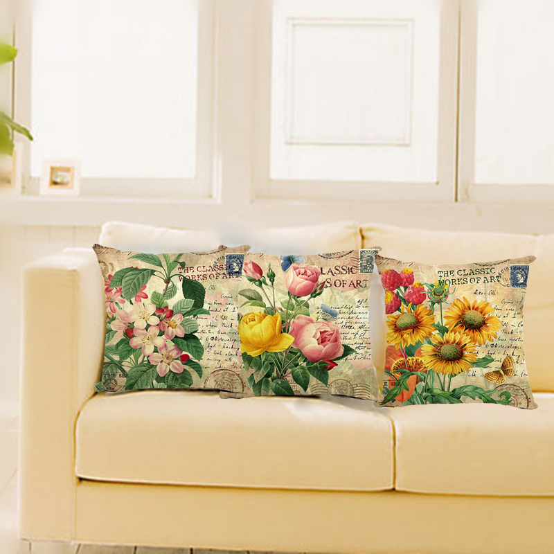 Cushions Home, Furniture & DIY Vintage Pillow Case Cotton Linen Sofa Cushion Decorative Home Covers Room Bed