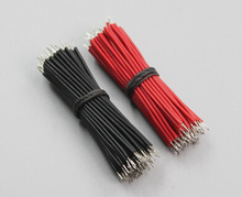 Free Shipping 50pcs pcb solder cable 26AWG 10cm Fly jumper wire cable Tin Conductor wires