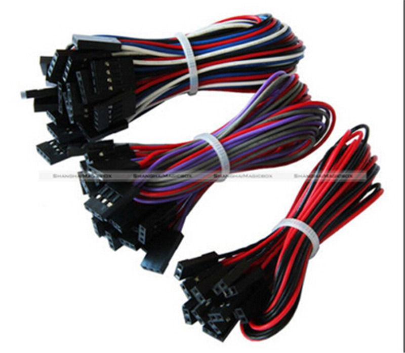 15PCS 70CM 2P 3P 4P RepRap 3D Printer Ramps 1.4 Basic Wiring Jumper Cable Kit Tech Geek 90014160-15