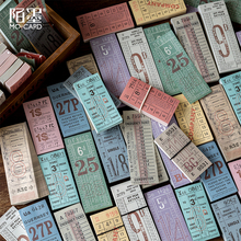 Mo. Kart retro vintage bilet not defteri diy mesaj not kağıdı not defteri paketi Toptan