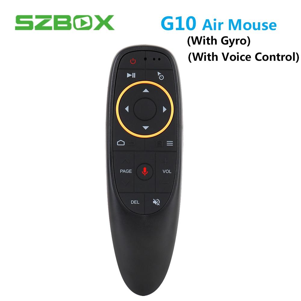 G10 Fly Air ratón Gyro de juego con Control de voz 2,4 GHz micrófono inalámbrico de Control remoto para TV inteligente caja de Android PC