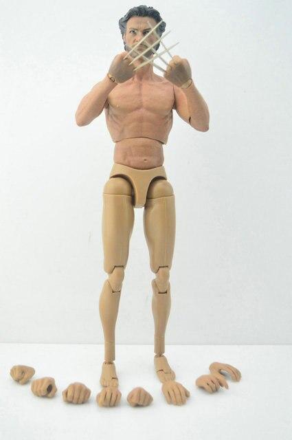 1/6 skala Wolverine Hugh Jackman mit einem metall claws 12 \