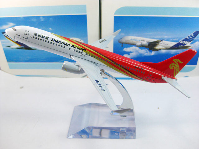 Free Shipping,Airlines plane model,   B737 China Shenzhen Airlines, 16cm, metal airplane models,airplane model