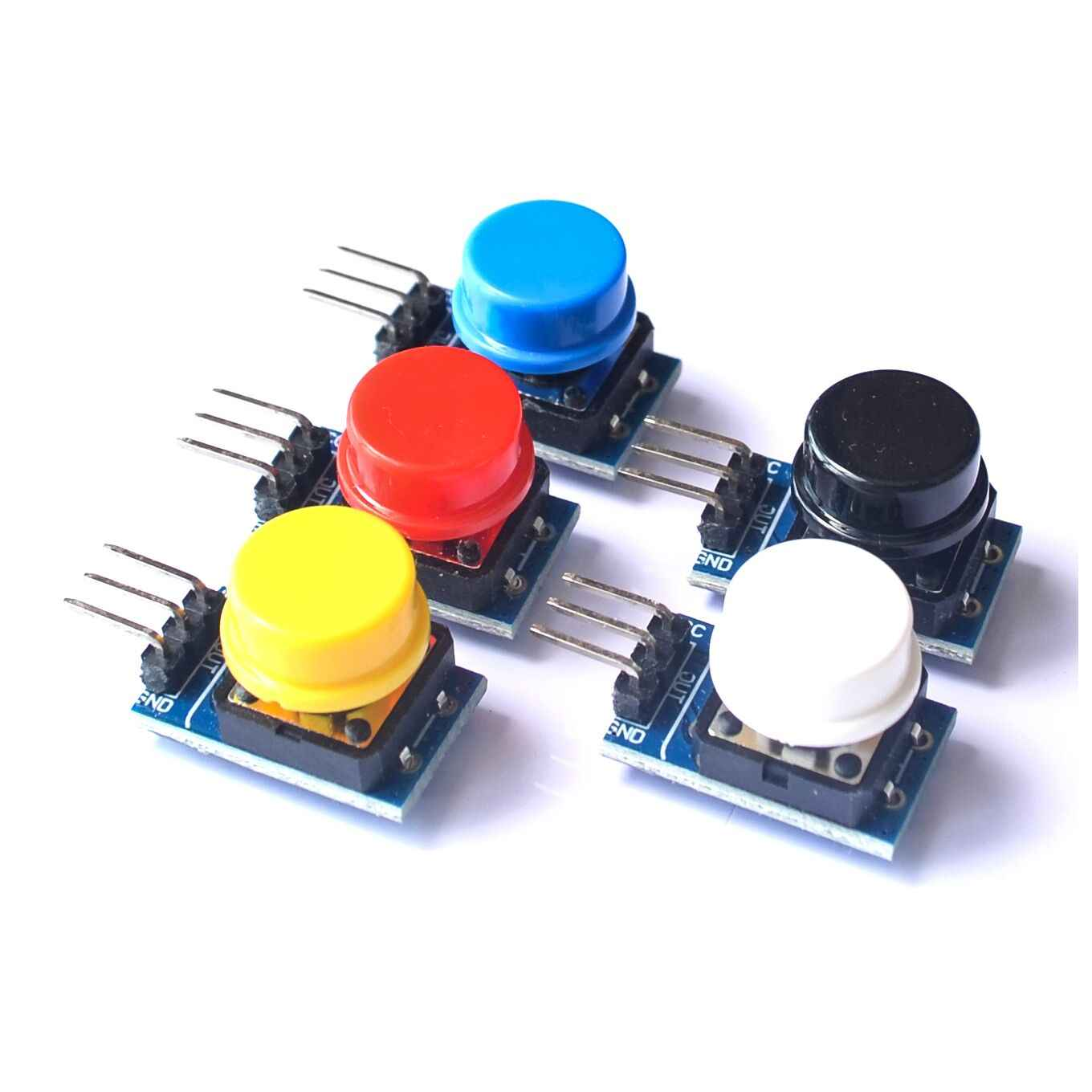 5pcs 12X12MM Big key module Big button module Light touch switch module with hat High level output for arduino or raspberry pi 3
