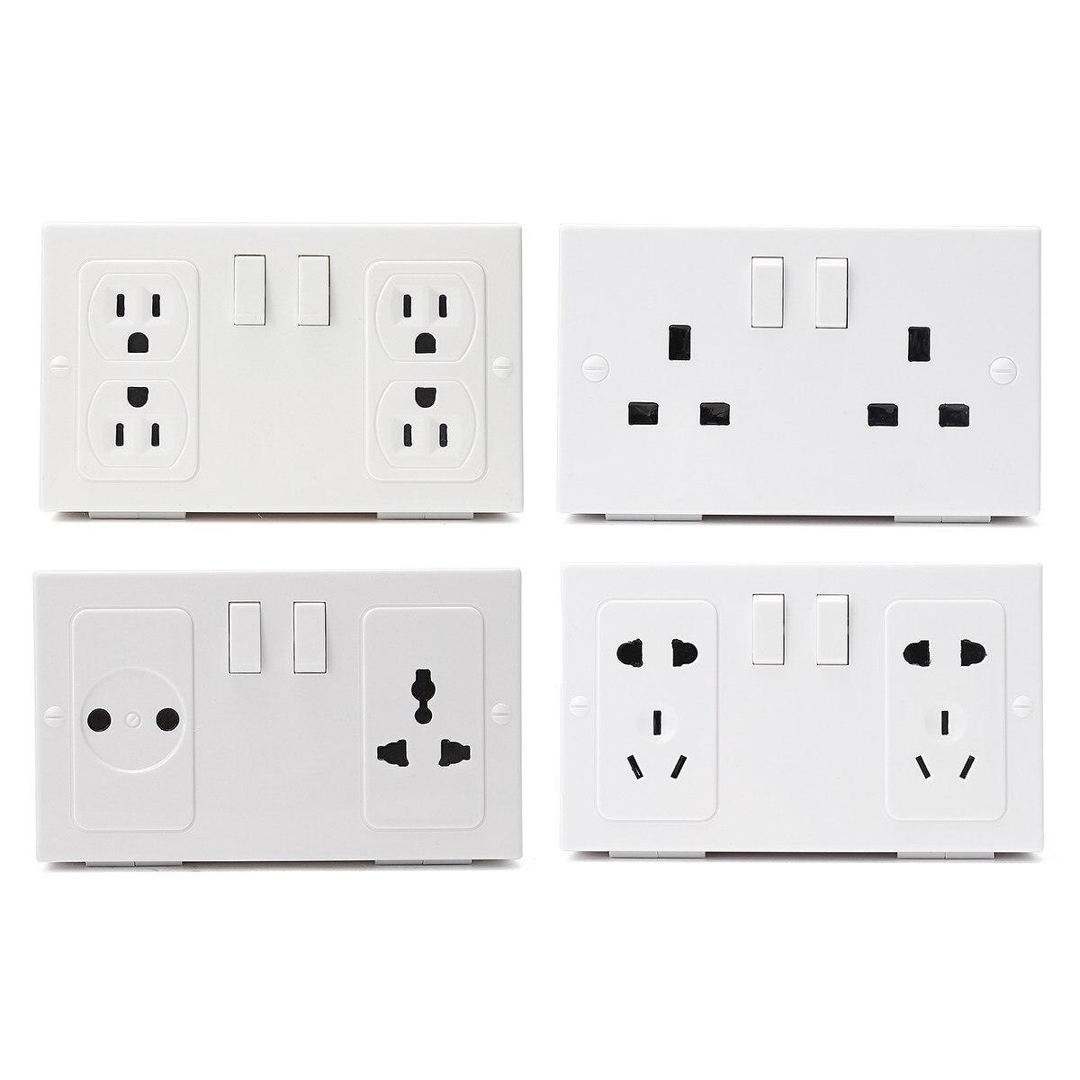 White Socket Imitation Valuables Safe Storage Box Bin Wall Hanging Double Plug Security Stash Box Home Wall Sundries Organizer
