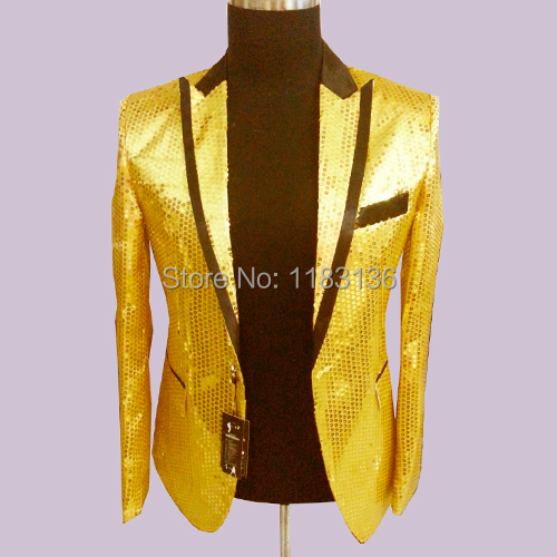 Popular Mens Gold Blazer-Buy Cheap Mens Gold Blazer lots from ...