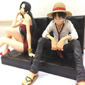 One Piece Luffy y Hancock 1/9 Escala Pintado Sentado Sofá Ver. Muñeca Luffy Acción PVC Figuras de Colección Modelo Juguetes 12 cm KT3348