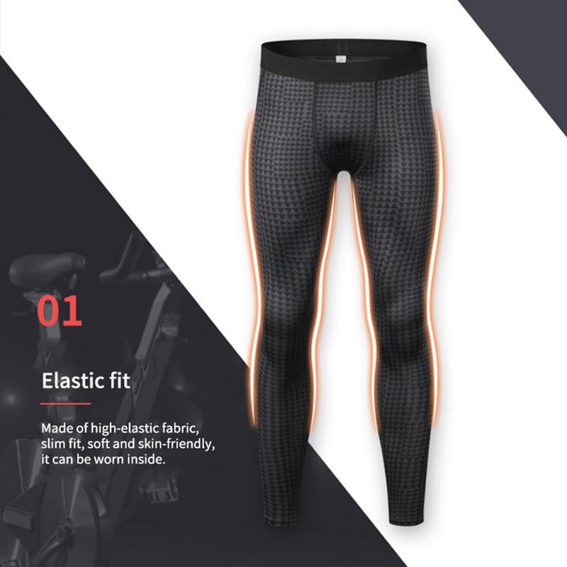 2019 hommes pantalons de course pour élastique Sport entraînement pantalons d'entraînement Gym vêtements Fitness serré musculation pantalon hommes Leggings