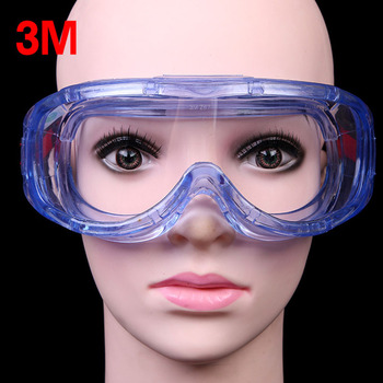 3M 1623AF Safety Goggles Anti-Impact and Anti chemical splash Glasses Goggle Laboratory Labor Eye Protection Riding Anti-sand 4