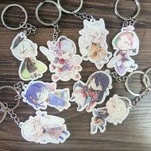 8pcs/set Anime Keychain Sheep Swords Character Touken Ranbu Online Portachiavi Munechi Mikazuki Hitofuri Keyrings Pendant