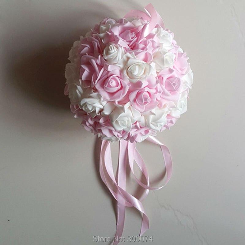 comprar unids cm bodas centros de mesa de flores rosa bolas de flores colgantes decoracin de espuma bola de la flor de