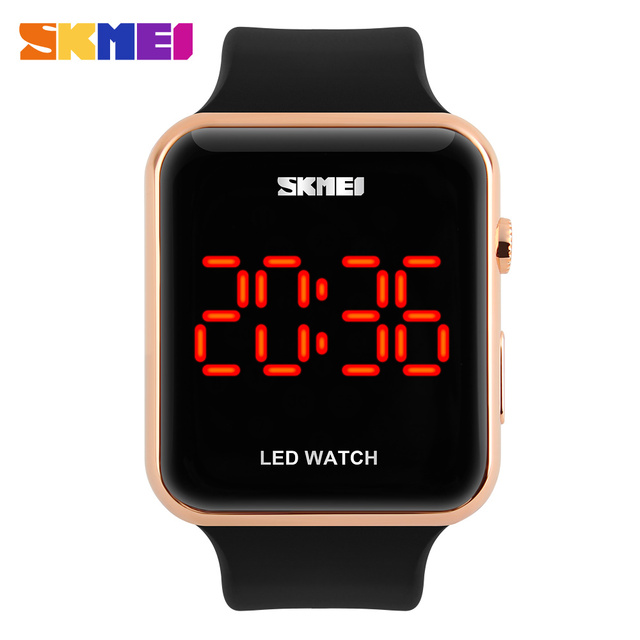 2016 skmei hombres del reloj del deporte led digital relojes estudiante de moda a prueba de agua al aire libre ocasional relojes montre homme erkek saat
