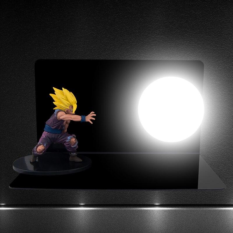 HAIXIANG Dragon Ball Son Goku Força bombas Luminaria Night Lights LED Candeeiro de Mesa Quarto iluminação Decorativa Do Feriado presentes