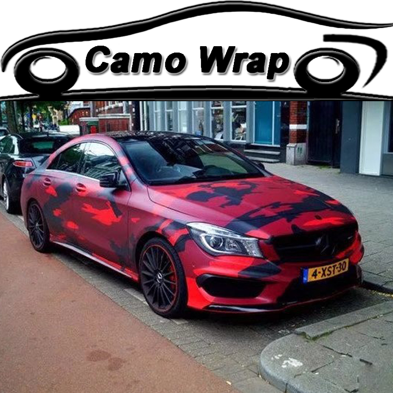 black red car motorbike body wraps sticker camouflage. Black Bedroom Furniture Sets. Home Design Ideas