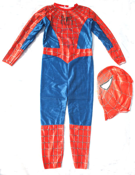 Free shipping ,new style children  spiderman costume superhero Jumpsuit for kid