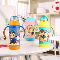 1pc 380ML Genuine Paw Patrol Water Bottles Vacuum Cup 316 Stainless Steel Thermal Bottle BPA FREE Straight Cup for kids boy Girl