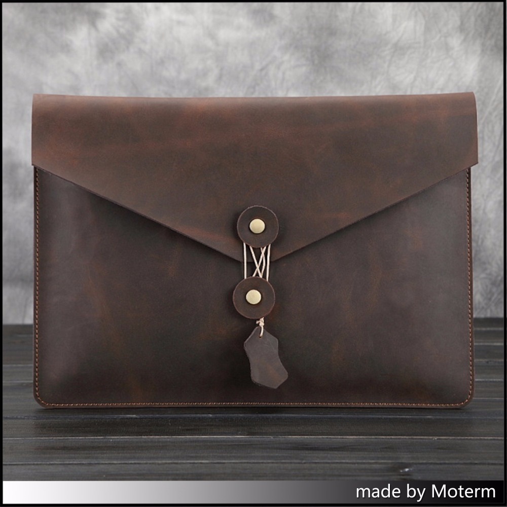 цена  Moterm Original vintage leather filing products Business Men's File Envelope Package Crazy horse vintage style free shipping  онлайн в 2017 году