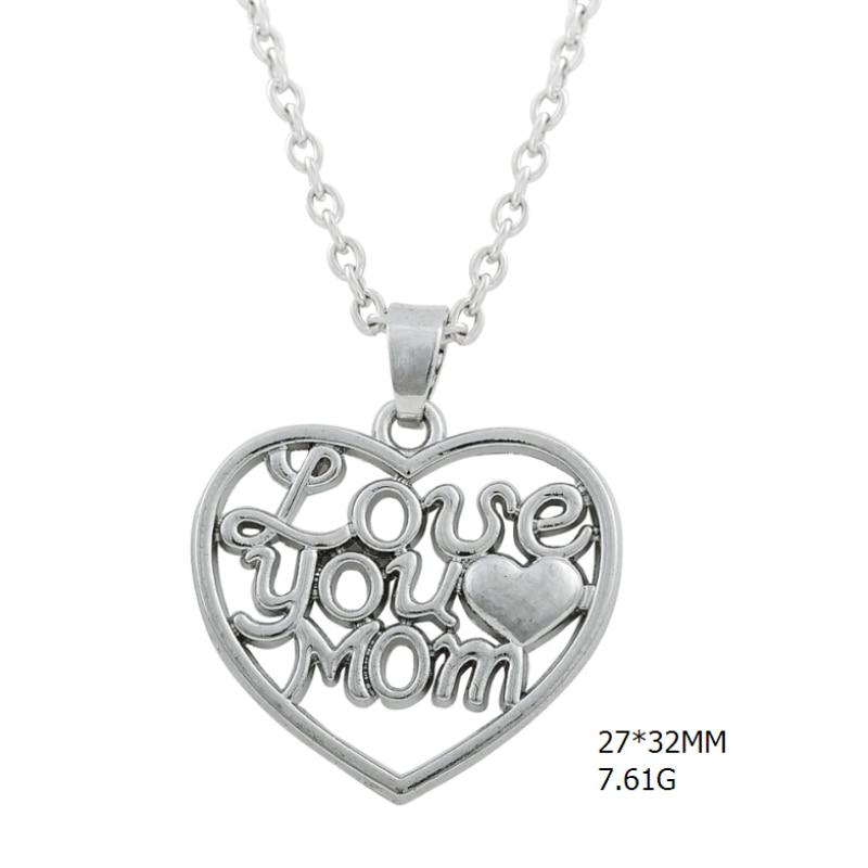 lemegeton fashion necklaces for women Love you MoM heart shape ...