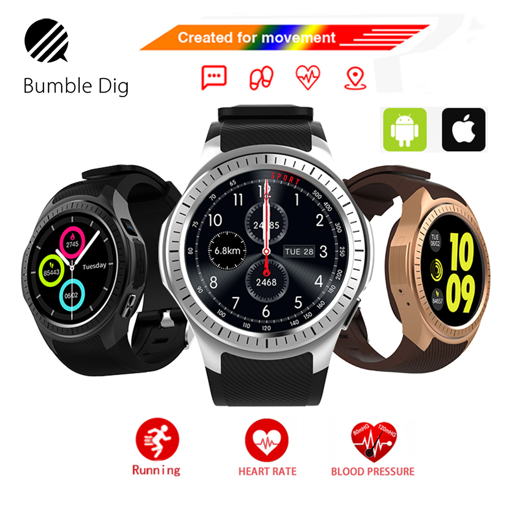 Smart Watch Phone Call Compatible with Smartwatch GPS Bluetooth SIM TF Camera Heart Rate Monitor For