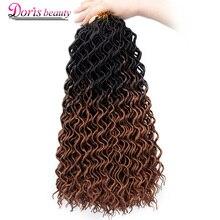 Doris beauty Goddess Faux locs CURLY, вязанные крючком косички, волосы, 24 корня, 18 дюймов, Омбре, синтетические дреды, волосы для наращивания для женщин