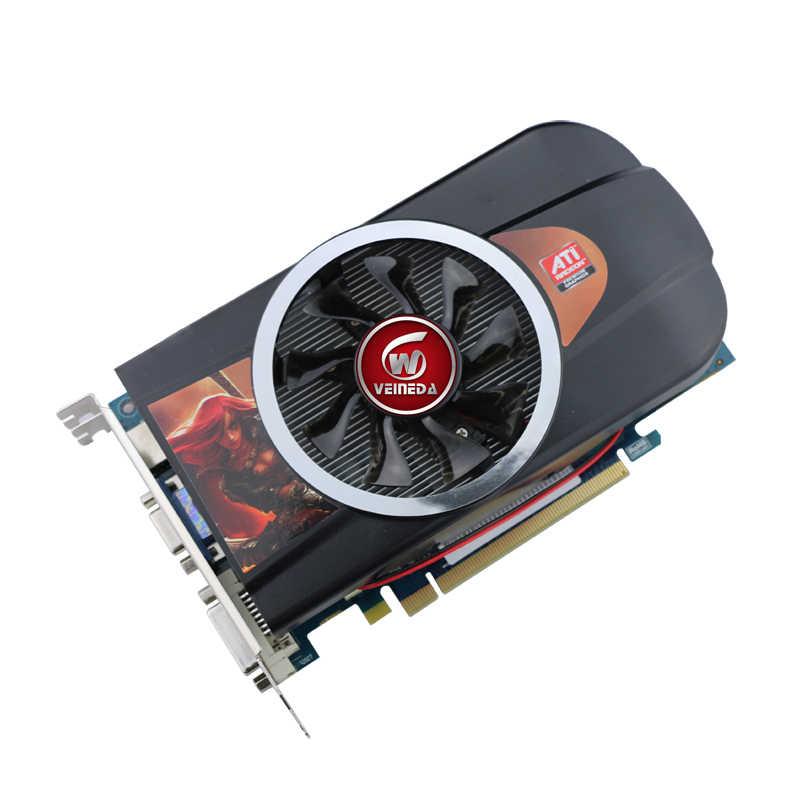 بطاقات الرسومات بطاقة الفيديو HD7770 1GB 128Bit GDDR5 لألعاب ATI Radeon
