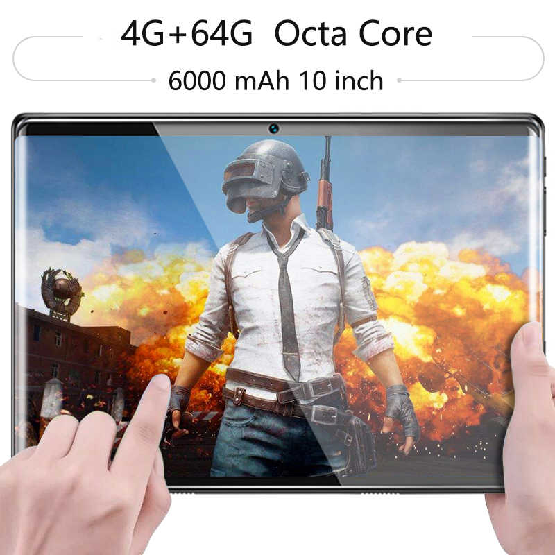 Hot Super 2.5D Tempered Glass IPS 10 Inch Tablet PC 4GB RAM 64GB ROM Octa Core 3G 4G LTE FDD Dual Sim Cards Android 8.0 Tablets